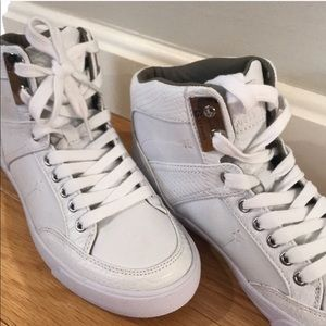 G By Guess white high top sneakers, NWOT